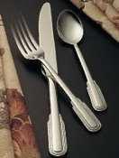 Bon Chef S2407 Stainless Steel 18/8 Empire Salad/Dessert Fork, 7-5/32