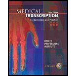 Medical Transcription - Fundamentals & Practice (3rd, 07) by [Paperback (2007)]