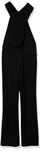 HALSTON Women's Wrap Neck Jumpsuit