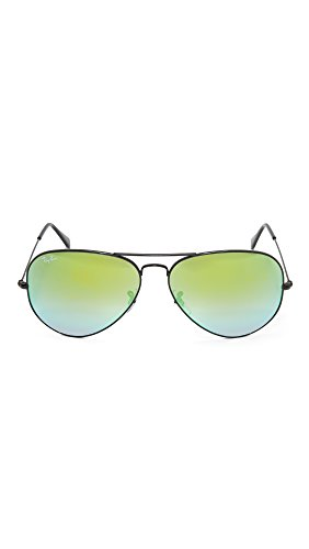 Gafas Negro Ban Gradient de Hombre Green para Aviator Flash sol Metal Ray Large dzHIwUqU