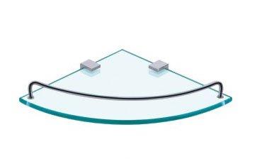 Clickbasin Dart Glass Corner Shelf Space Saving Shelf