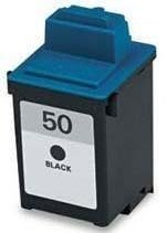 HouseOfToners Remanufactured Ink Cartridge Replacement for Lexmark #50 17G0050 (1 Black) (50 Black Remanufactured Ink)