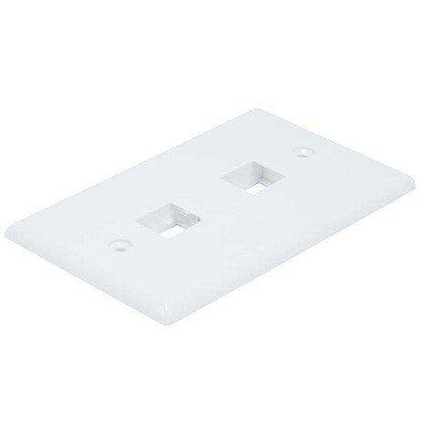 TruDx - Wall Plate for Keystone, 2 Hole - White