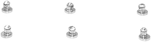 Three Small Round Cut Clear CZ Stainless Steel Magnetic Stud Earrings - No Piercing - 4mm