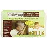 Trend Lab CribWrap Fleece Rail Cover for Long Rail, Natural, Narrow for Crib Rails Measuring up to 8 Around! by Trend Lab
