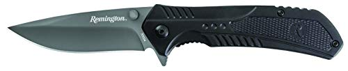 - Remington Cutlery R30004BK Tactical Series Assisted Opening Pocket Knife, Titanium Coated 420J2 Steel Blade, Anodized Aluminum Handles