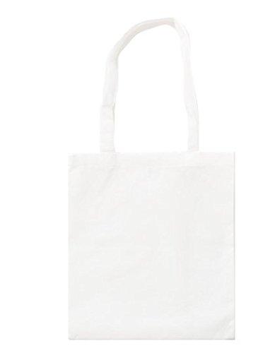 Stoffbeutel aus Baumwolle mit langen Henkeln ca. 38 x 42 cm,Weiß