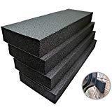 (Connected Essentials Garage Car Door Bumper Guards - High Density Door Bumper & Edge Protector, Black, Pack of 4 )