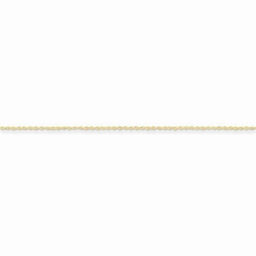 Solid 14k Yellow Gold 1.1mm Children Boy Girl Baby Kids Rope Chain Necklace 24'' by Sonia Jewels