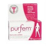 PurFem Probiotic (10 vaginal suppositories) Brand: Purfem
