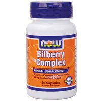 Bilberry Complex 50 Caps - Now Foods Bilberry Complex 80mg - 50 Caps 6 Pack