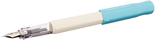 Pilot Kakuno Medium-Nib Fountain Pen, White Body Soft Blue Cap (FKA-1SR-SLM)