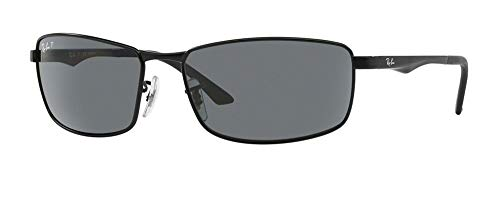 Ray-Ban RB3498 006/81 61M Matte Black/Grey Polarized Sunglasses For ()