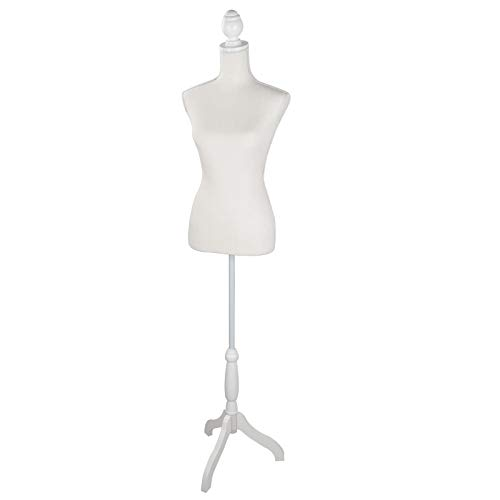 "ZENSTYLE Female Dress Form Mannequin Torso 60"" to 67"" Height Adjustable Woman Body Clothing Display with Tripod Stand"