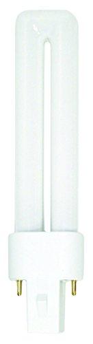 Luxrite LR20255 (4-Pack) CF7DS/835 7-Watt Single Tube Compact Fluorescent Light Bulb, Natural White 3500K, 400 Lumens, G23 Bi-Pin Base