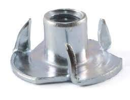 Steel Press-in Threaded Insert for Wood OR Plastic. Pack of 50 4 Prong T-NUT 1//4-20 X 9//16 Length