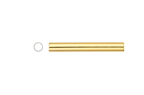 Light Weight Metal Tube Beads Gold Finished Round Staight Tube 4x30mm Sold per pack of 40