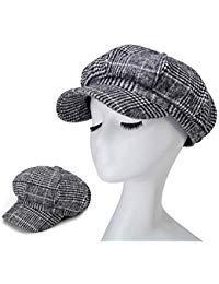 a11bd0b0721 Blmusi Newsboy Beret Hat for Women Cabbie Hats Fall Visor Cap Paperboy  Painter Hat
