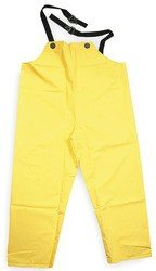 Bata/Onguard X-Large Yellow Webtex .65mm Ribbed PVC On Polyester Webtex Rain Bib Overalls With Plain Front