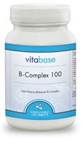 B-Complex (100 mg, Sustained Release) 100 Tablets per Bottle (6 Pack) by Vitabase (Image #2)