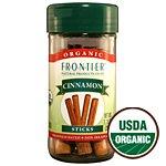 Frontier Organic Whole Cinnamon Sticks, 1.28 Ounce