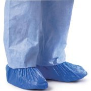 Blue CPE (.55 MM) Shoe & Boot Cover Booties, Water Proof CPE Material, Indoor & outdoor shoe or boot protection, Non Slip disposable (Size 2X 300 Pack) by Sara Glove (Image #4)