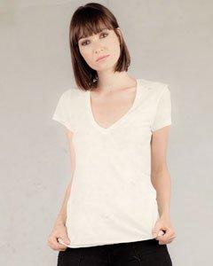 Alternative Ladies' 3.5 oz. Short-Sleeve V-Neck - WHITE - L