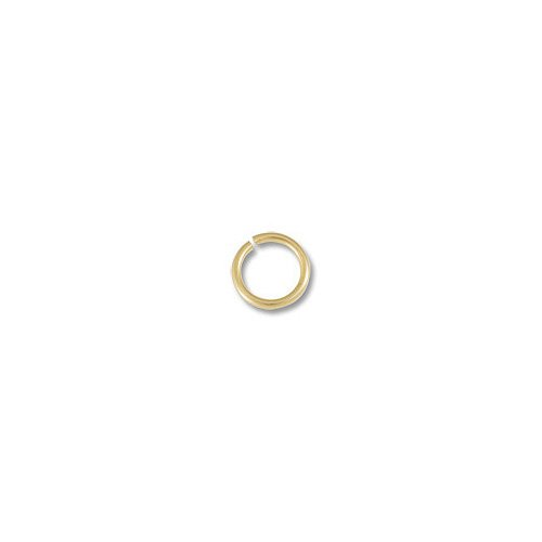 JewelrySupply Open Jump Ring 3mm 14 Karat Solid Yellow Gold