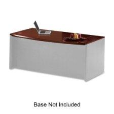 Ensembles Veneer Furniture (Mayline Corsica Veneer Desk Ensembles-Desk Shell, Bowfront, Top, 72