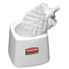 (Rubbermaid Commercial Products Toilet Bowl Brush Holder, White, Sold as 1 Each)