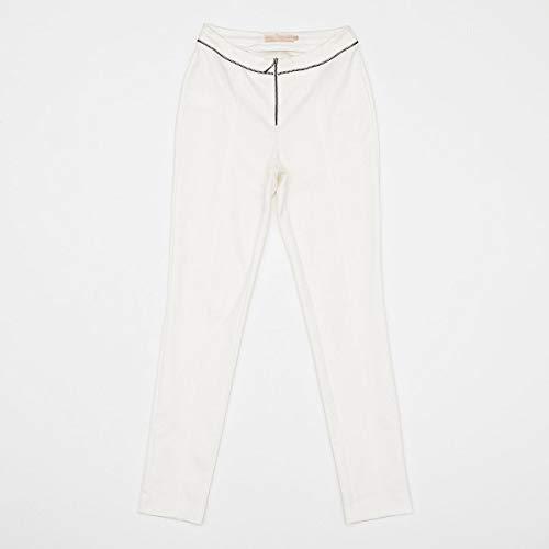 Calca Acostamento Feminino Fashion Off White