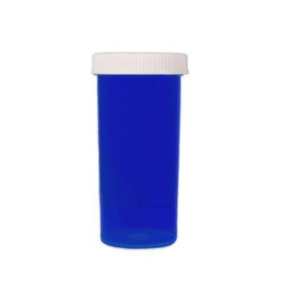 Plastic Prescription Blue Vials bottles