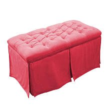 Komfy Kings Tufted Toy Box-Minky, Pink