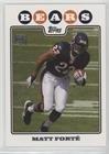 Matt Forte (Football Card) 2008 Topps - [Base] #356