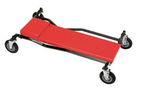 Whiteside Padded Creeper with No-Matic Wheels - 600-Lb. Capacity, Model# MTLPNEUP by Whiteside