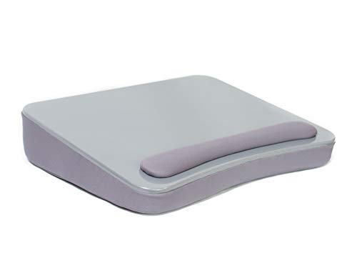 Sofia + Sam Lap Desk (Silver) - Memory Foam Cushion - Large surface area for Crafts, Reading and Laptops - Supports Laptops up to 17 inches
