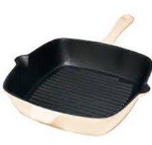Sartén plancha de cocina de hierro fundido color crema tamaño aprox ...