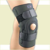 Fla 37-104LGBLK Safe-T-Sport Hinged Stabilizing Knee Stabilizing Brace, Black, Large by FLA Orthopedics