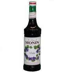 Monin Violet Premium Syrup 2/750 ML Glass Bottles