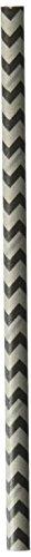 Wilton 1912-0458 Black and Gunmetal Chevron Lollipop Stick, (Wilton Halloween Lollipop Molds)