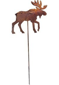 Rusted Garden Stake - 35 Inch Moose Rusted Garden Stake