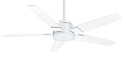 Ceiling Blade Fan Holder (Casablanca 59110 Zudio 56-inch Snow White Ceiling Fan with Snow White Blades and Clear Frosted Glass Light)