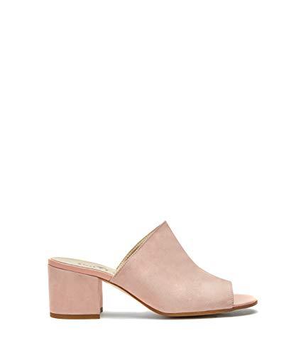 Chaussures Bloc Cuir Coco Rose Pour Femmes Sandales Talons Souple Talon Épais Poilei Mules À U1Sq1wgd