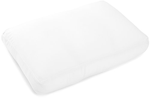 (Deluxe Comfort Re Feels Like Sleeping Contour Cloud Pillow with Microbeads – Hypoallergenic – Eliminate Aches and Pains – Removable Zipper Cover – Bed Pil, Large, White)