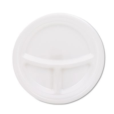 """Mediumweight Foam Plates, 9"""" diameter, White by SOLO Cup Company"""