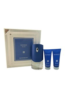 Perfume Givenchy Gel (Givenchy Pour Homme Blue Label by Givenchy for Men 3 Piece Set Includes: 3.3 oz Eau de Toilette Spray + 2.5 oz After Shave Moisturizing Balm Alcohol-Free + 2.5 oz Hair and Body Shower Gel)