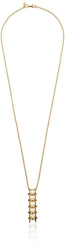 Rebecca Minkoff Gold-Plated Five Faux-Pearl Pendant Necklace, 30