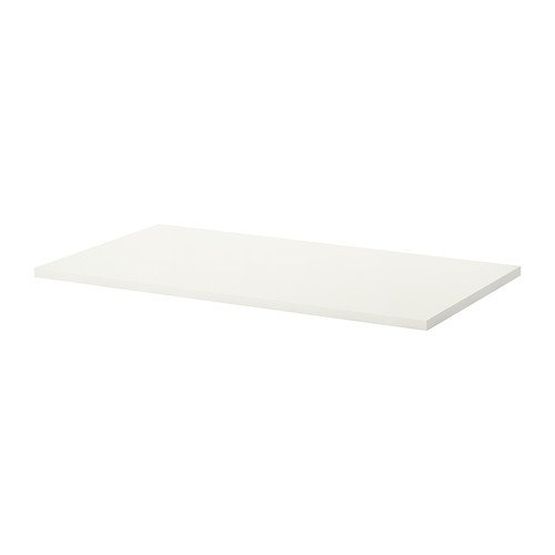 Linnmon Desk Table Top 59 Inch with Feltectors (White) -