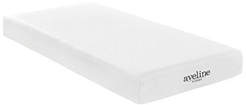 "modway aveline 8"" gel infused memory foam twin mattress with certipur-us certified foam - 10-year warranty - available in multiple sizes"