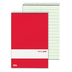 Office Depot(R) Brand Steno Notebooks, 6in. x 9in, Pitman Ruled, 80 Pages (80 Sheets), Green, Pack Of 12 by Office Depot (Image #1)